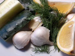 Ingredients for Greek Tzatziki Sauce Recipe