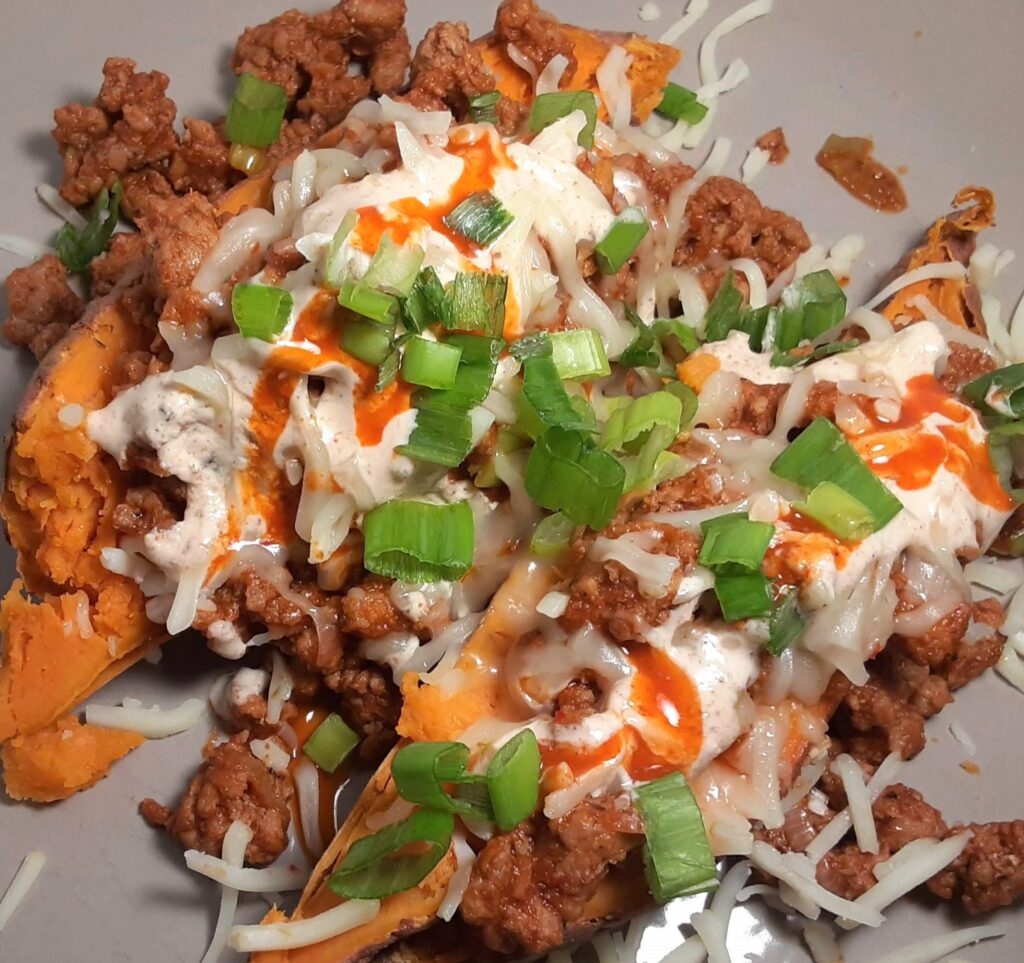 chili stuffed sweet potatoes
