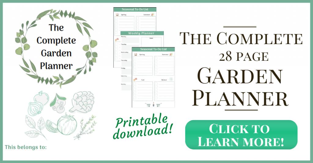 print garden planner and journal