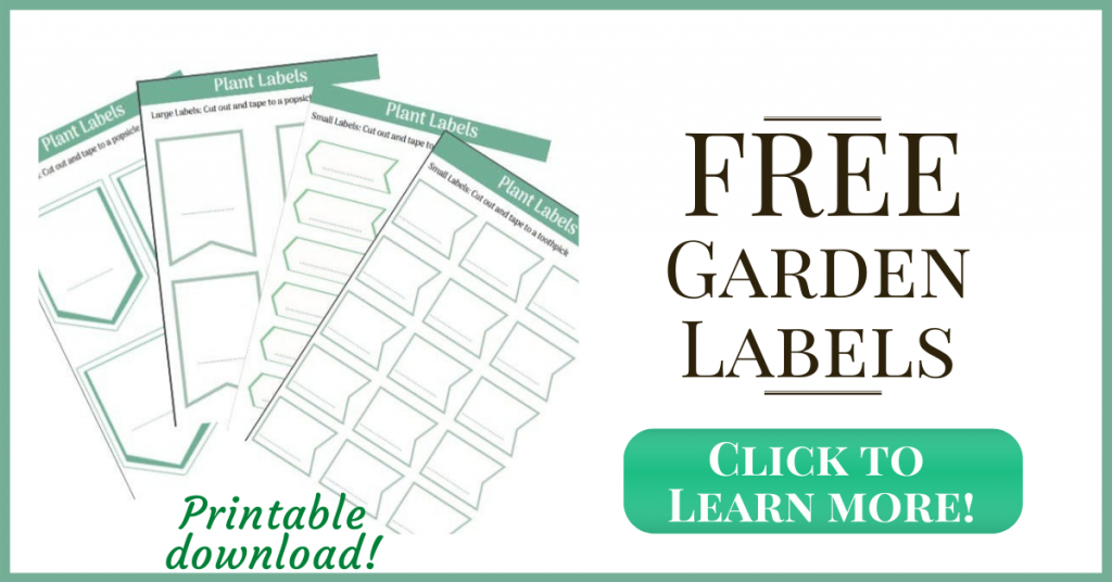 print free garden planner labels and garden markers